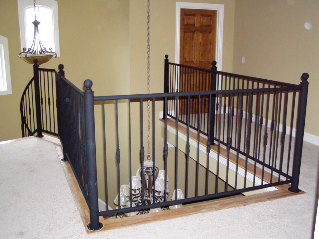 Beautiful indoor balcony railing photos interior design for Interior iron railing designs